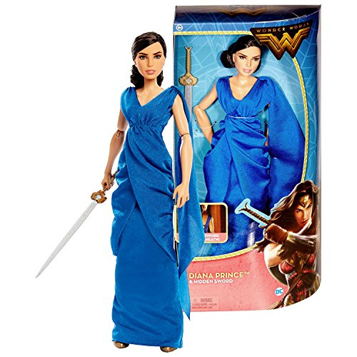 DC Comics Year 2016 Wonder Woman Movie Series 12 Inch Doll Set - DIANA PRINCE FDF36 in Blue Gown with Sword and Hidden Sheath