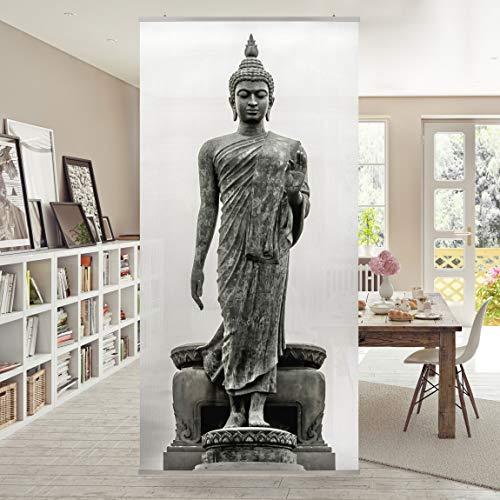 Raumteiler Buddha Statue 250x120cm inkl. transparenter Halterung