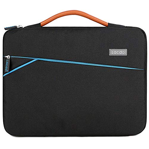 Lacdo 360° Protective 13.3' Laptop Sleeve Case Computer Bag for Older 13 Inch MacBook Air A1466 MacBook Pro 2012- 2015 / 13.5 Microsoft Surface Book 2, Laptop 3, 2 / 13' Asus HP Dell Acer Lenovo,Black
