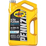 Pennzoil Ultra Platinum Full Synthetic 0W-20 Motor Oil (5-Quart, Single Pack)
