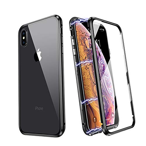 iPhone X Case Magnetic, JSTBOX 360 Full Body Case for iPhone X/XS 5.8 inch...