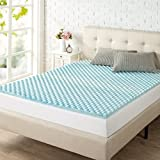 Zinus 1.5 Inch Swirl Gel Memory Foam Convoluted Mattress Topper / Cooling, Airflow Design / CertiPUR-US Certified, King