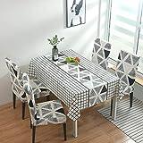 JIALIANG Almohadilla protectora impermeable de PVC para mesa/mesa de mesa cubierta de mesa sin arrugas y resistente a las manchas, 140x160cm