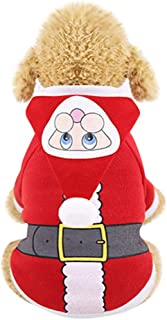 Pet Cat Dog Christmas Santa Winter Warm Clothing Dress Thicken Clothes