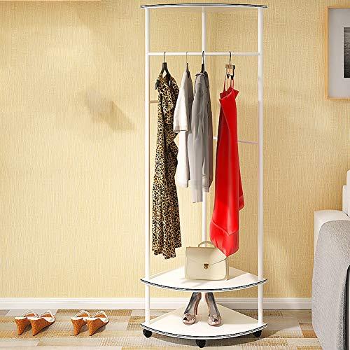 Vloerstaande kapstok rek, brede toepasbaarheid Mdf met universele wiel opslag plank kleding rek voor slaapkamer woonkamer