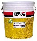 San Marco Grassello di Calce Stucco Veneziano Confezione da 25 kg. Bianco colorabile con coloranti universali. Prodotto Decorativo per pareti Effetto Stucco Veneziano, marmorino Lucido