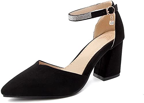 CXQ-Talons QIN&X Femmes Pointy Toe Block High Heels Pompes Chaussures Prom Bouche Peu Profonde