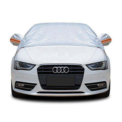 Tofern Halbe Größe Wasserdichtes Autoabdeckung Top Winter Sommer Autoabdeckung (Limousine, M)