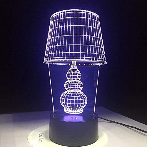 Luz De Noche 3D Luz De Escritorio Led Con Botón Táctil Luz 3D Usb Luz De Noche Led 3D, Como Lámpara De Decoración De Arte Para El Hogar Para Computadora Portátil, -Interruptor Táctil