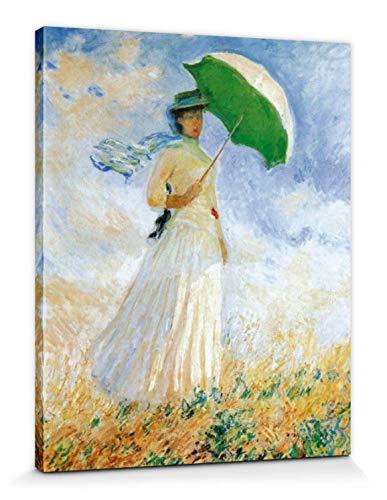 1art1 Claude Monet - Frau Mit Sonnenschirm, 1886 Bilder Leinwand-Bild Auf Keilrahmen | XXL-Wandbild Poster Kunstdruck Als Leinwandbild 50 x 40 cm