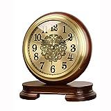 guoqunshop Reloj Vintage Mute Brass RELOCK Table Table Reloj DE LA Tabla DE LA Tabla DE LA Mesa Reloj DE LA Cama DE Retro DE LA Cama Retro del Escritorio Retro Reloj (Size : B)
