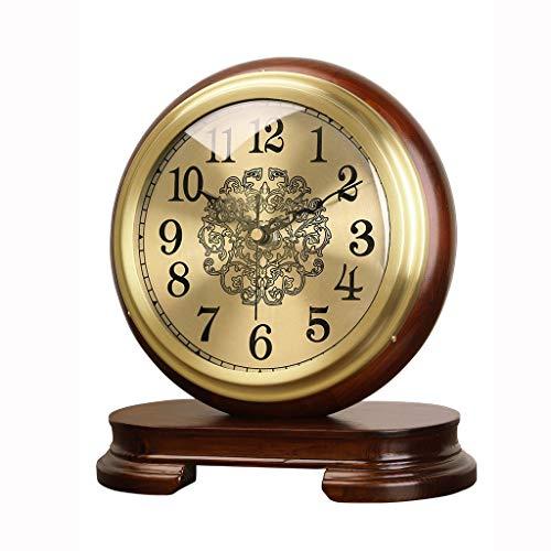 liushop Reloj de Estante Mute Brass RELOCK Table Table Reloj DE LA Tabla DE LA Tabla DE LA Mesa Reloj DE LA Cama DE Retro DE LA Cama Retro del Escritorio Retro Reloj de Mesa Decorativo (Size : A)
