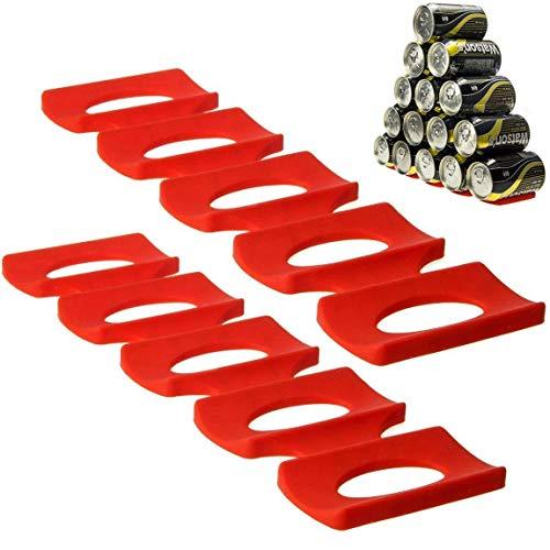 Sunerly Botella y Puede facilmente Stacker gabinete de Cocina y Nevera Storage Rack, Bandeja con divisiones para apilar Botellas, Orden Matte para frigoríficos (2 Pack)