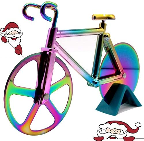 Pizza Cutter Wheel Bicycle Bike Cake Slicer Cutter for Breads Toasts Sandwiches Dough product image