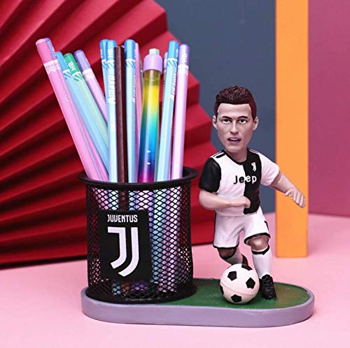 N\C Creative Football Basketball Star Ornaments James Kobe Messi Pen Holder Stationery Storage Box Personality Boys