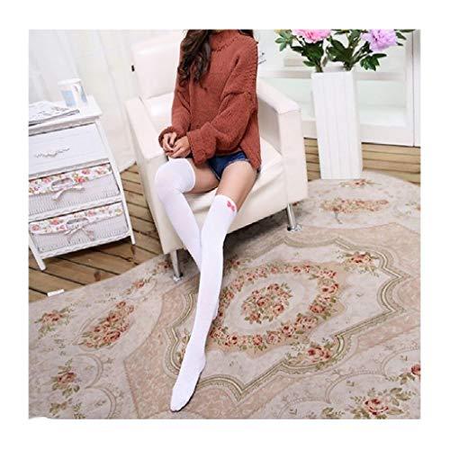 NANSHAN - Aibow Sport Reitstrümpfe, High Knie Socken, Größe: Eine Größe (Color : Weiß, Größe : One Size)
