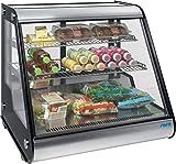 Fusione di vitrine refrigeranti B 700 x T 580 x H 680 mm Nero