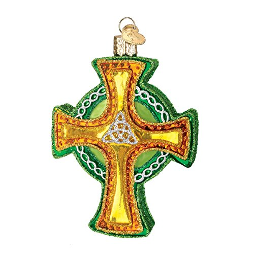 Old World Christmas Ornaments: Trinity Cross Glass Blown Ornaments for Christmas Tree