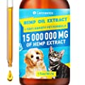 CANNAVICO Hemp Oil Dogs Cats - 15 000 000 mg - Pet Separation Anxiety, Joint Pain, Seizures, Chronic Pains, Anti-Inflammatory, Stress Relief- Calming Drops - Omega 3, 6, 9