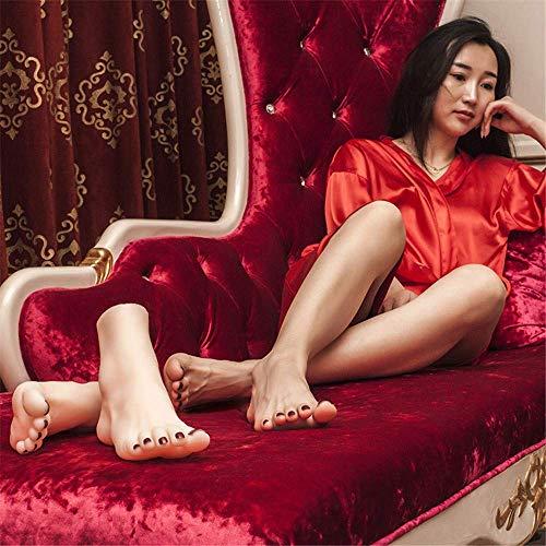 AMITD Foot Fetishes,Fuß Spielzeug-Silikon Schaufensterpuppe Fuß Fußfetisch Sichtbare Blutgefäße 2019 neueste Entwicklung 36A Mädchen Fußmodell Knöchelhobby Fußkultur Kunstmodell Simulation Fuß,B