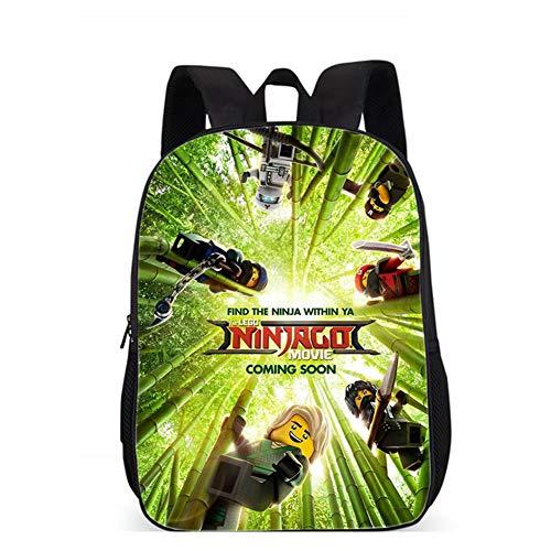 Kinderrucksack, Ninjago Tasche, Grundschule Mode Lässig Druck Rucksack Kindergarten Cartoon Anime Rucksack Geeignet Für Kinder Von 6-12 Jahren ninjago(3)-43 * 31 * 16CM