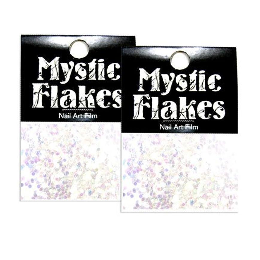 後方に絶壁症候群ミスティックフレース ネイル用ストーン オーロラホワイト サークル 1mm 0.5g 2個セット