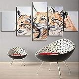 Brandless Leinwand Ölgemälde Tiere Gepard Poster Cartoon
