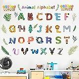 whmyz 26 Letras mayúsculas en inglés Pegatinas de Pared Clase de formación de jardín de Infantes Pared autoadhesiva 30 * 90 cm