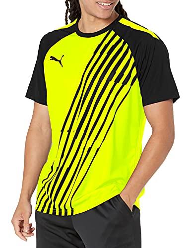 PUMA TeamLIGA Graphic Jersey T-Shirt, Giallo Allert Nero, XL Uomo