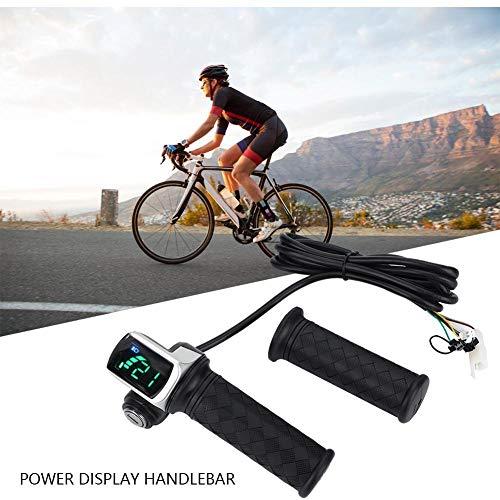 Bnineteenteam E-bike gashendel, 24 V, 36 V, 48 V, E-bike, gashandvat met LED-display en Power Key Locker voor motorfietsen en e-bikes