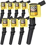 High Performance Pack of 8 Curved Boot - Upgrade 15% More Energy Ignition Coil for Ford F-150 F-250 F-350 Lincoln Mercury 4.6L 5.4L V8 Compatible with DG508 C1454 C1417 FD503