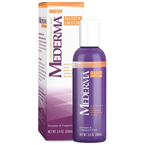 Mederma Quick Dry Oil - for scars, stretch marks, uneven skin tone and dry skin - #1 scar care brand - fragrance-free, paraben-free - 5.1 ounce