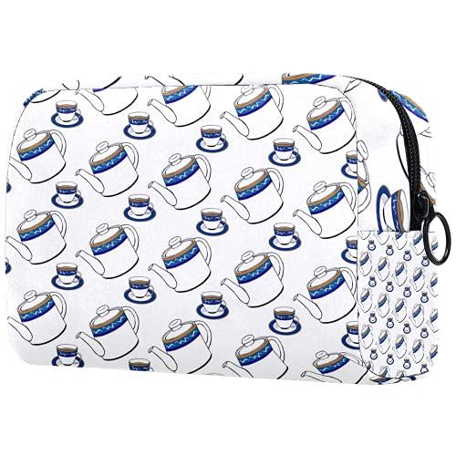 Bolsa de cosméticos de viaje Caja de almacenamiento de cosméticos, hojas tropicales