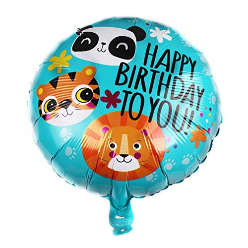 JSJJATQ Globos 1/2 / 5pcs 18 Pulgadas de Dibujos Animados de Dibujos Animados niños niños Fiesta de cumpleaños decoración de Aluminio Papel Globo Baby Show Globos (Ballon Size : 1pc, Color : 12)