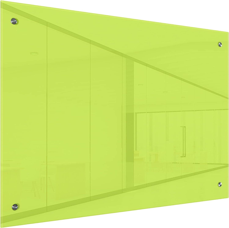 RG Green Magnetic Glass Long Beach Mall Whiteboard 3' Dry 4'x E 36
