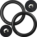 Nordic Lifting Gymnastic Rings and Straps - Heavy Duty for Gymnastics, Crossfit, Fitness Training - Best Olympic Home Gym Set - PC Plastic is Stronger Than Wood