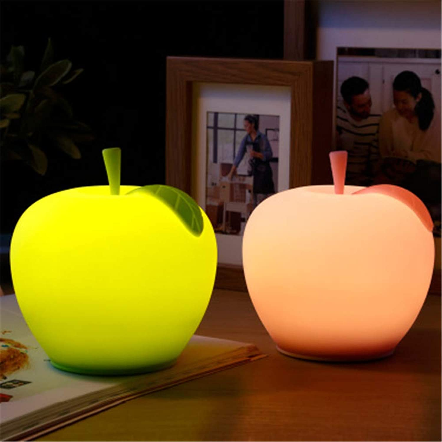 Evening mist Cute Night Light Silicone LED Multicolor Night Lamp,USB Rechargeable Silicone