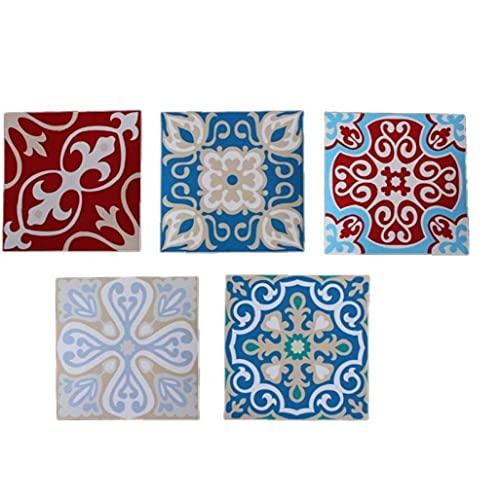 Froiny 5 Piezas De Azulejo Etiquetas Autoadhesivas Calcomanías Azulejos para Cocina Baño Sala De Estar
