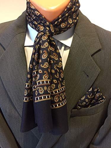Herren Schal mit passendem Einstecktuch
