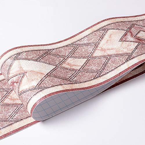Papel pintado impermeable para pared, diseño 3D, autoadhesivo, para cocina, baño, Banggo, 10,6 x 500 cm (rojo)