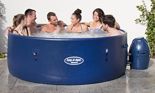 Lay-Z-Spa BW54113 Monaco Hot Tub 2018 Model, AirJet Inflatable Spa, 6-8 Person, Blue