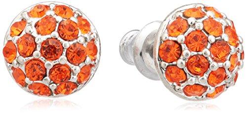 Pilgrim Jewelry Damen-Ohrstecker aus der Serie Classic versilbert orange 0.8 cm 611316383