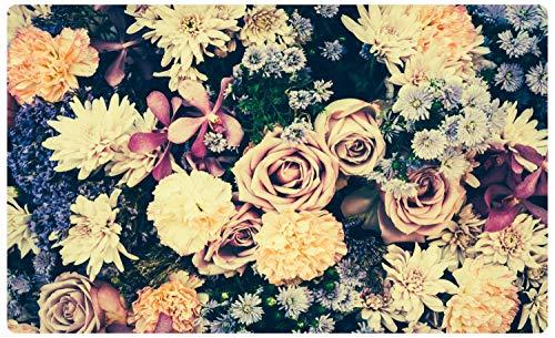 DesFoli Rosen Vintage Blumenstauß Wandtattoo Wandsticker Wandaufkleber R2993 Größe 60 cm x 90 cm