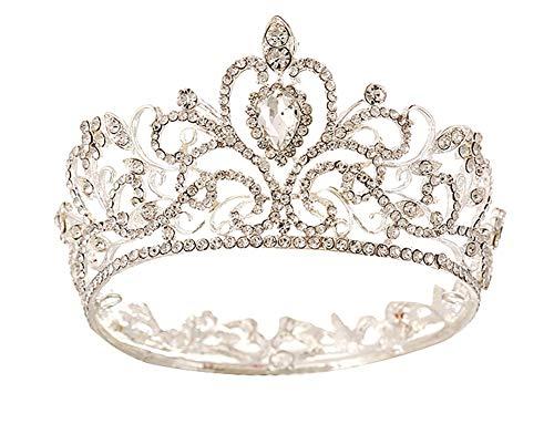 Icegrey - Corona per capelli da sposa, con strass
