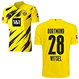 PUMA Borussia Dortmund BVB Heimtrikot 2020 2021 Home Trikot Sponsor BL Logo Herren Axel Witsel 28 Gr M