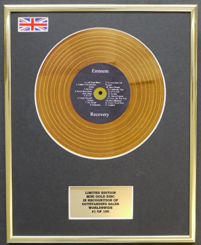 Eminem/Mini Gold Discs Display/Limited Edition/COA/Recovery