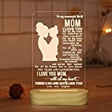 Mom Gifts from Daughter,3D Night Light Warm Color Illusion Optical Table Lamp...
