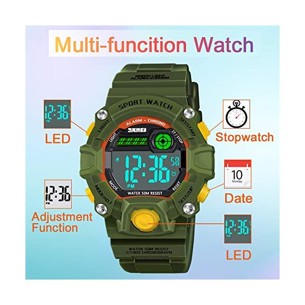SOKY LED Waterproof Digital Sport Watches for Kids – Best Gifts