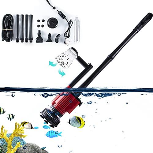 AUPERTO Aquarium Reiniger - Aquarium Kies Reiniger Siphon Staubsauger Kiesreiniger mit 4 extra Langen Röhren (2,07 m) für Wasserwechsel und Filter