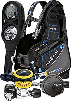 Aqua Lung Assembled Essential Scuba Gear Package Dive Computer BCD Regulator Set, Small